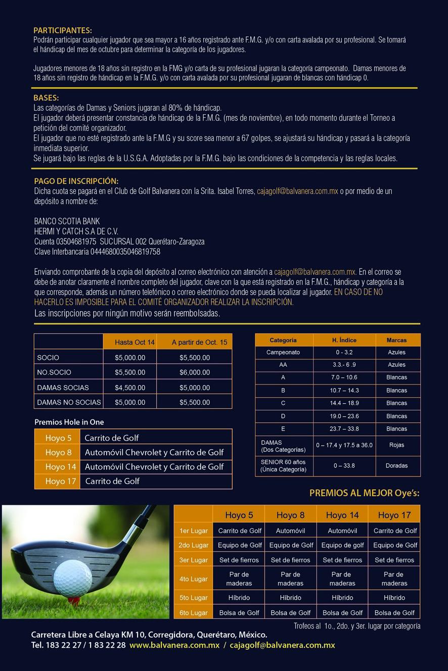 Flyer 2 Torneo Anual de Golf Balvanera 2015