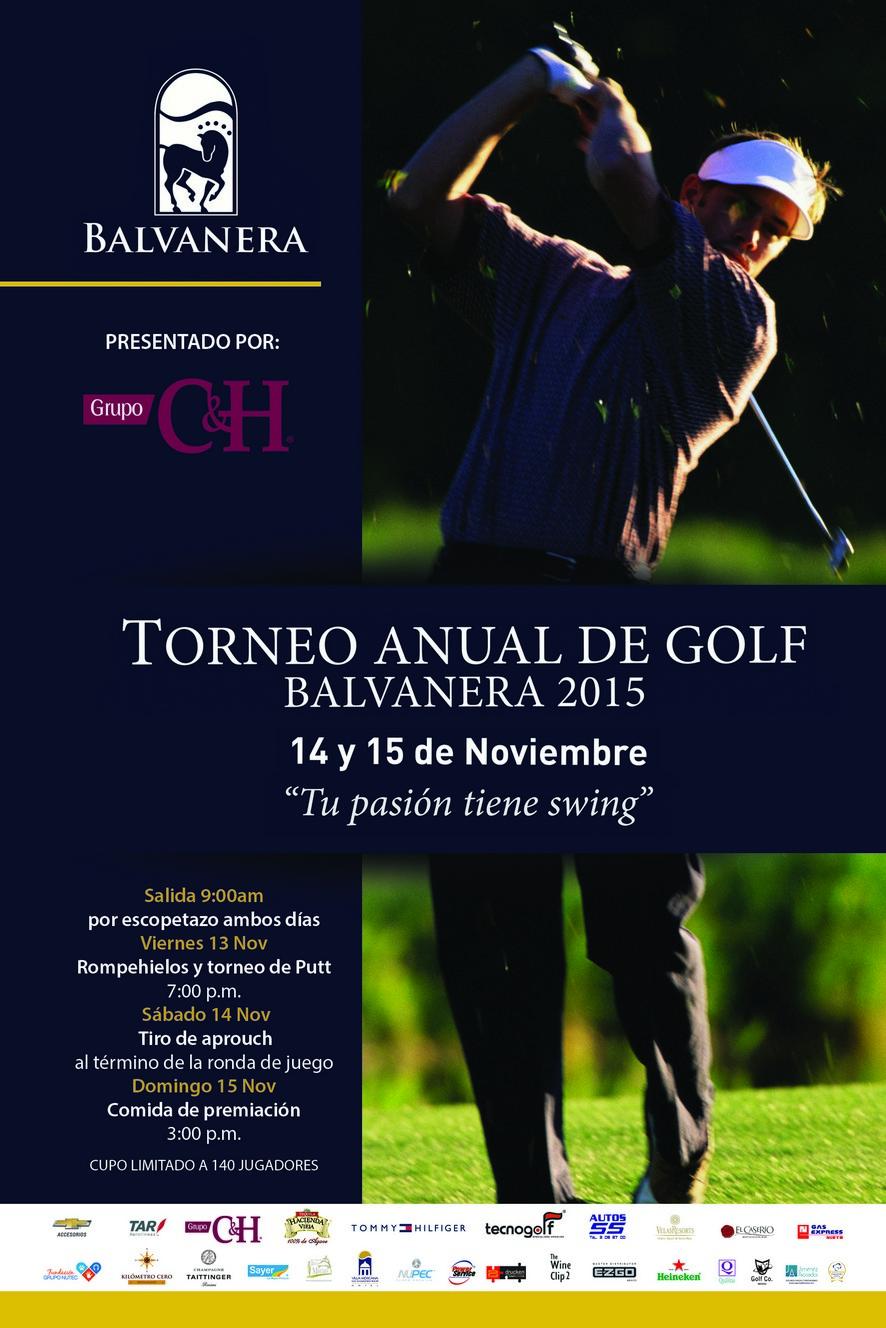 Torneo Anual de Golf Balvanera 2015