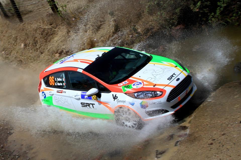 Carlos Salas arranco su actividad en el WRC