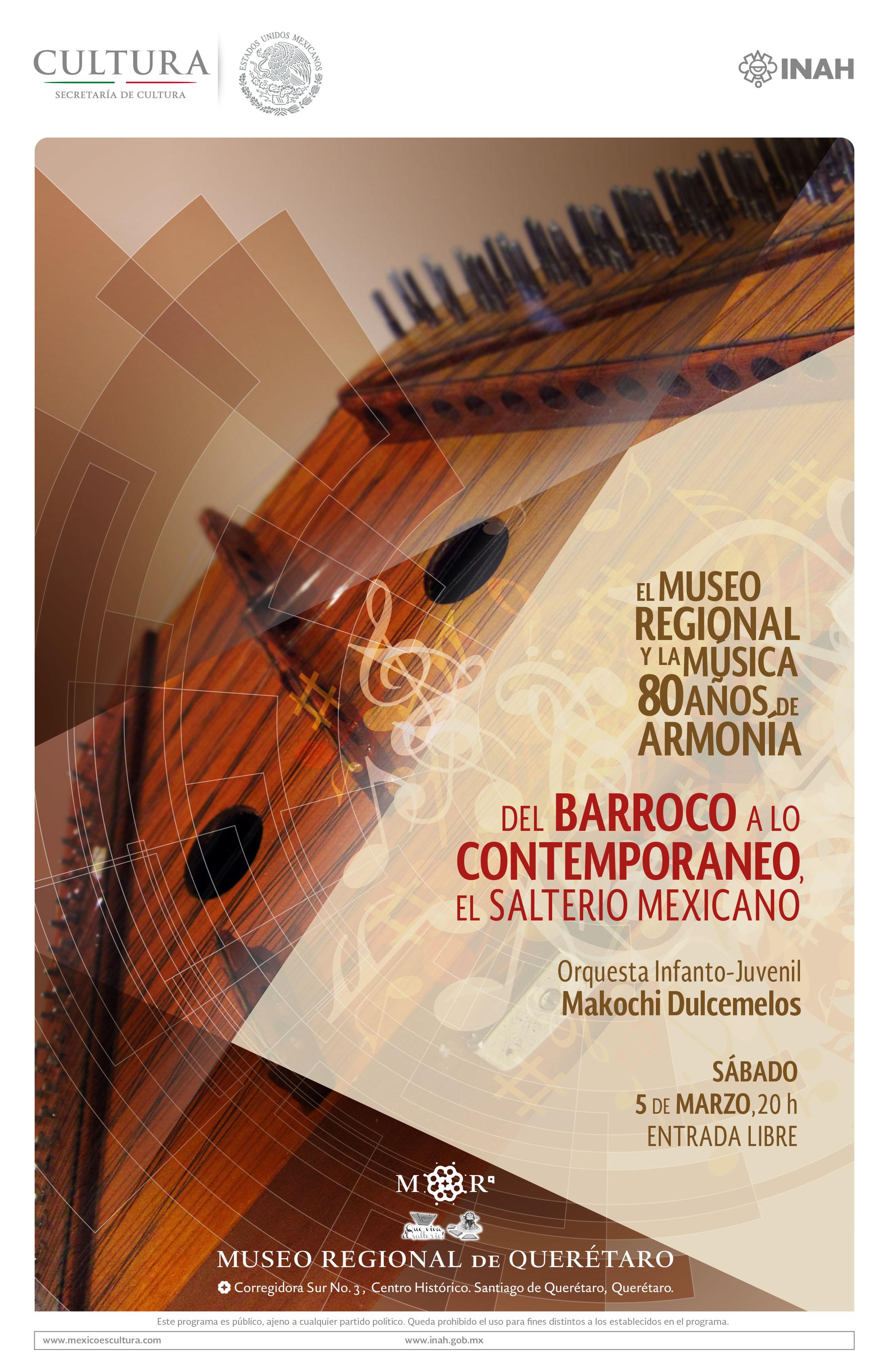 """""""Del barroco a lo contemporáneo, el salterio mexicano"""""""