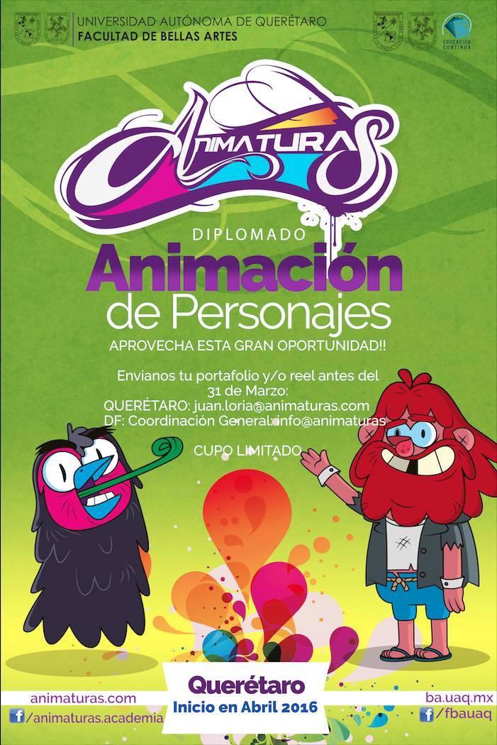 """Diplomado """"Animación de Personajes"""" por Animaturas"""