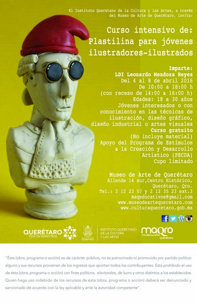 Curso intensivo de: Plastilina para jóvenes ilustradores-ilustrados