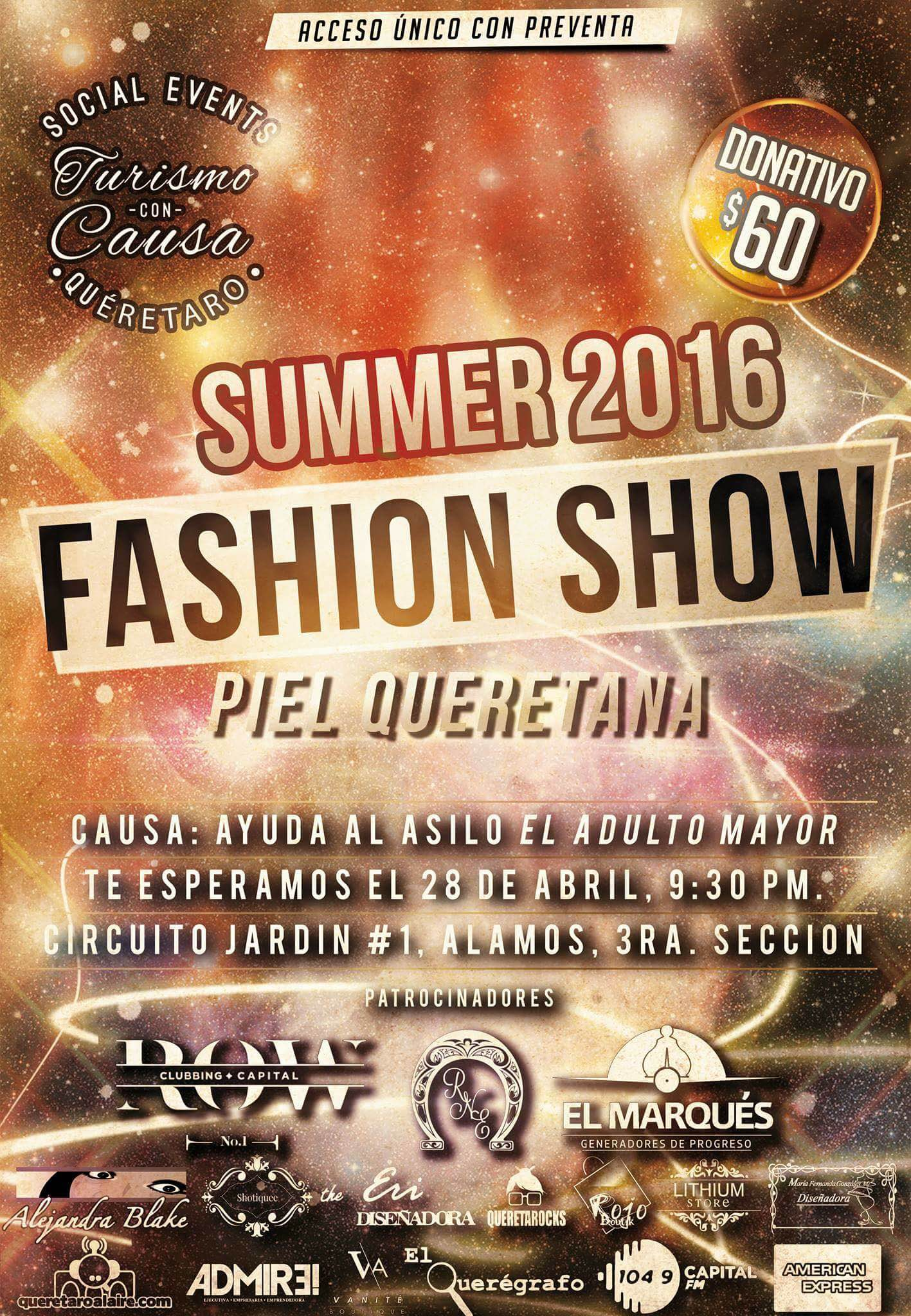 Turismo con Causa presenta: Fashion Show Summer 2016