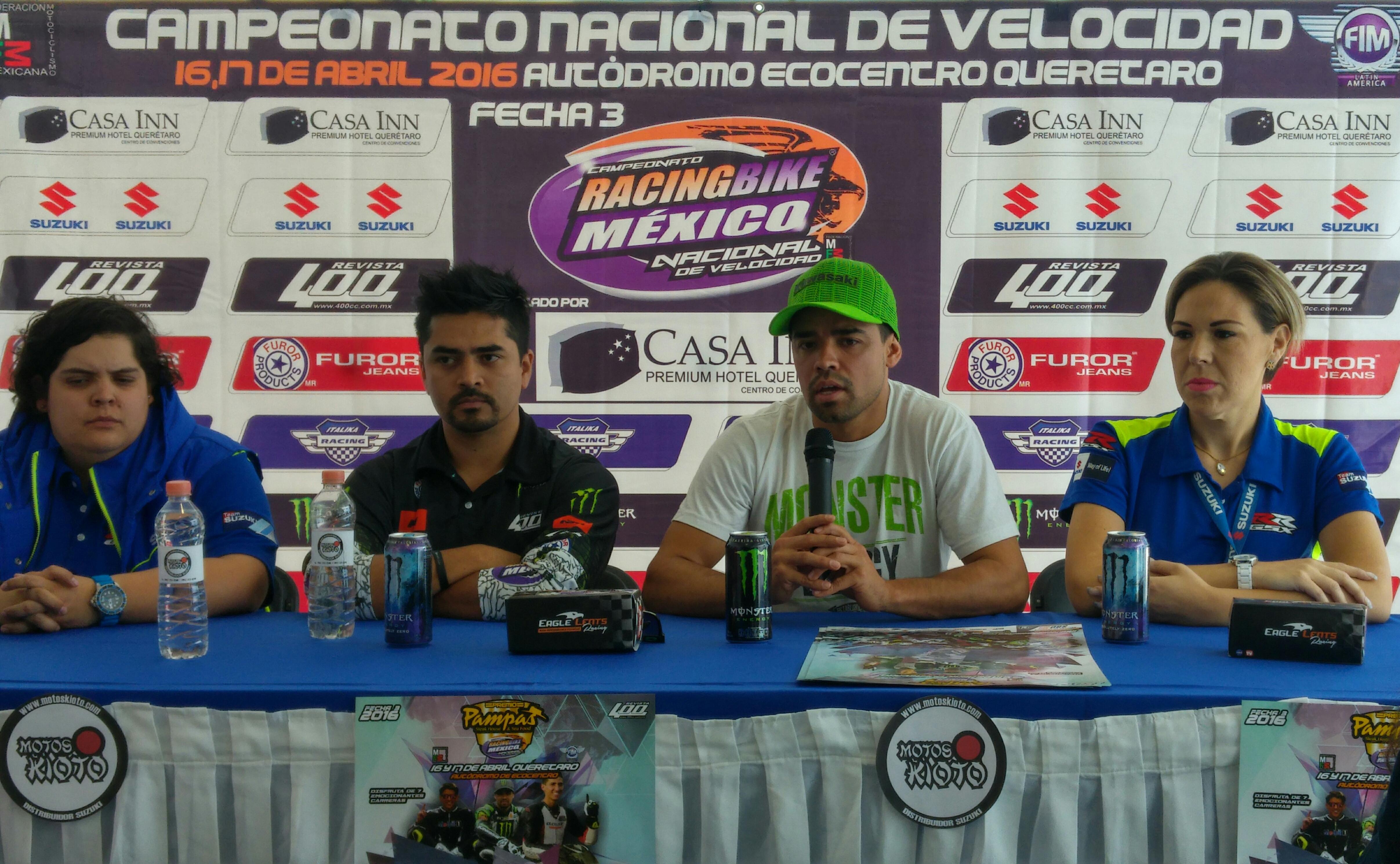 Este domingo tercera fecha de Racing Bike Campeonato de velocidad en Querétaro