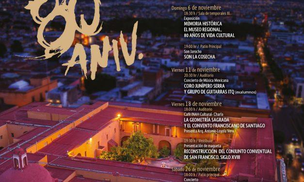 Programa del 80 Aniversario del Museo Regional de Querétaro