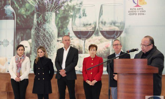 Inauguran Ruta Arte, Queso y Vino 2016