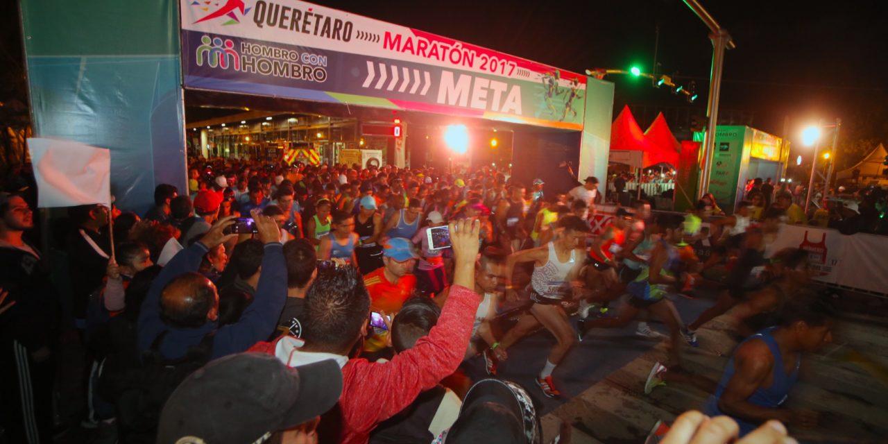 Se llegó a la meta del Querétaro Maratón 2017
